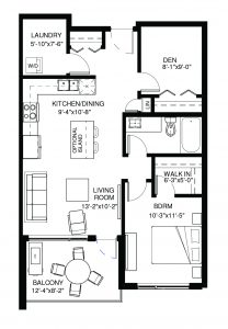 #114 – 105 Willis Crescent Floor Plan