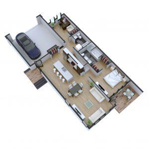 Unit # 1-619 Evergreen Blvd Floor Plan