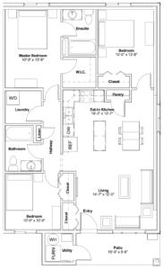 506-110 Akhtar Bend Floor Plan